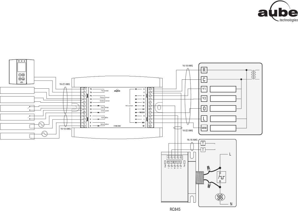 medium resolution of aube technologies th146 n u wiring diagram 3h2c heat pump add on installation