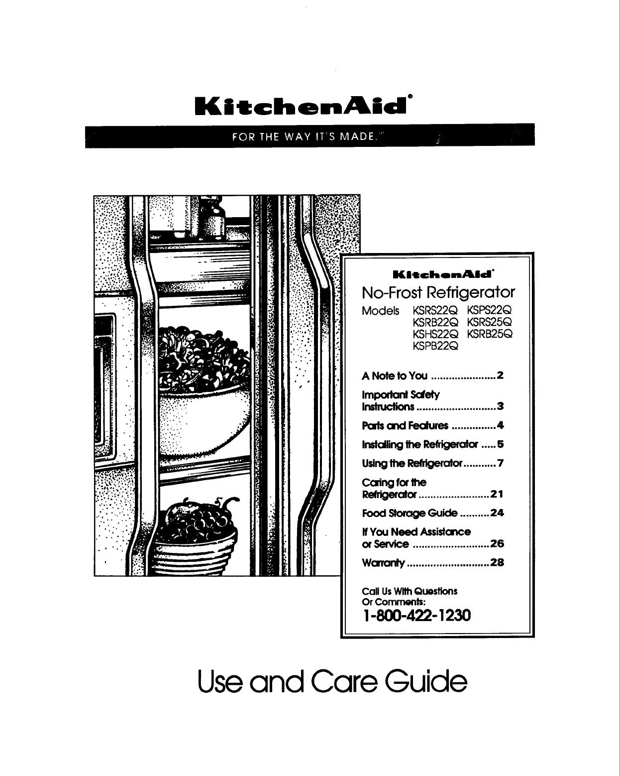 Kitchenaid Superba Owners Manual