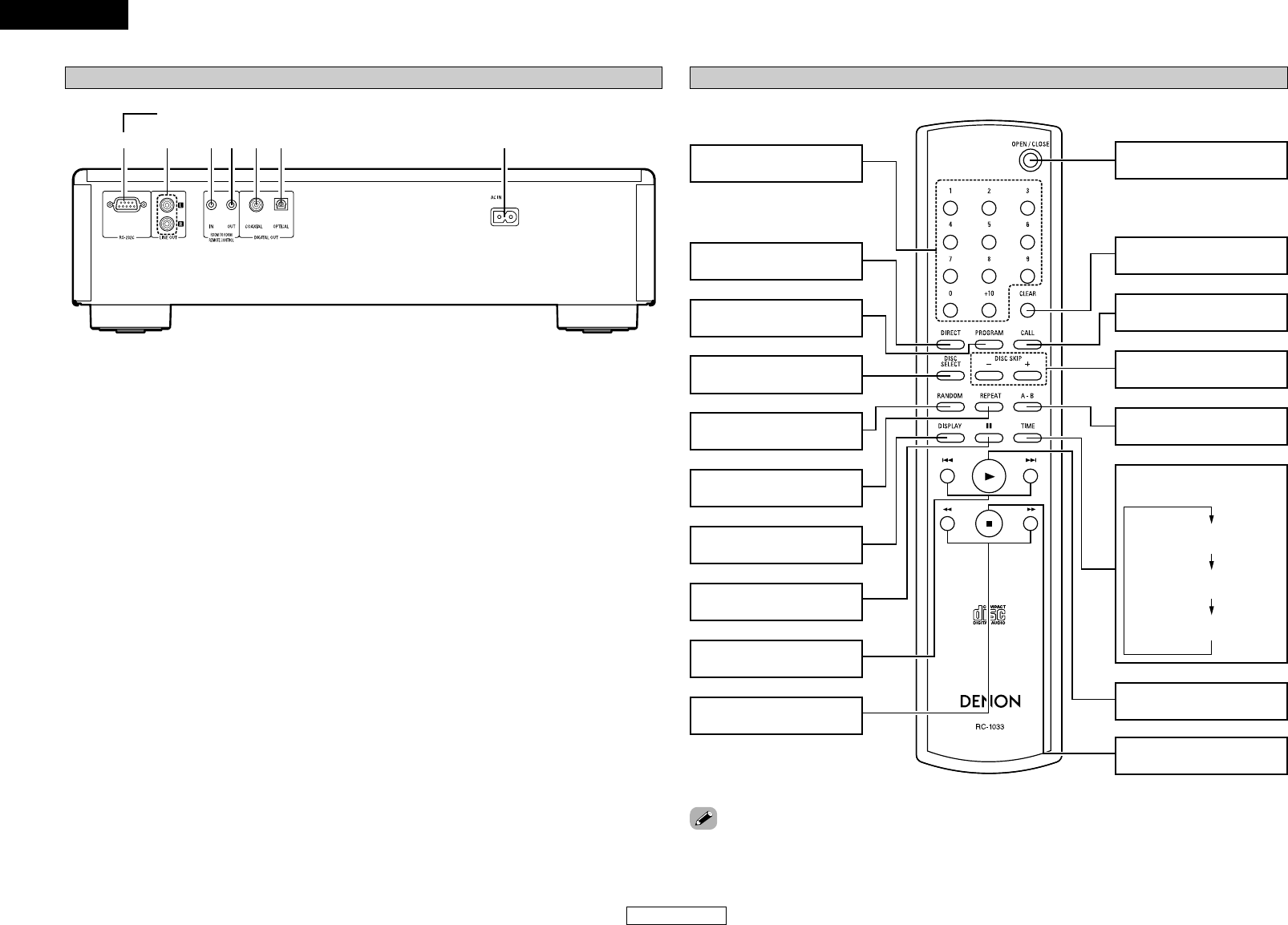 Denon DCM-290 q er t u, yw