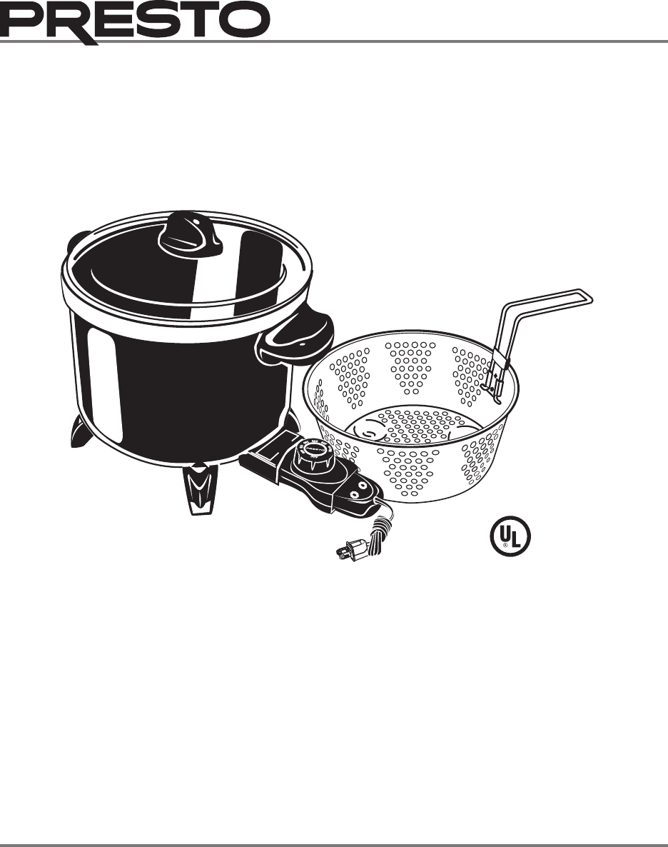 Presto Electric multi-cooker manual