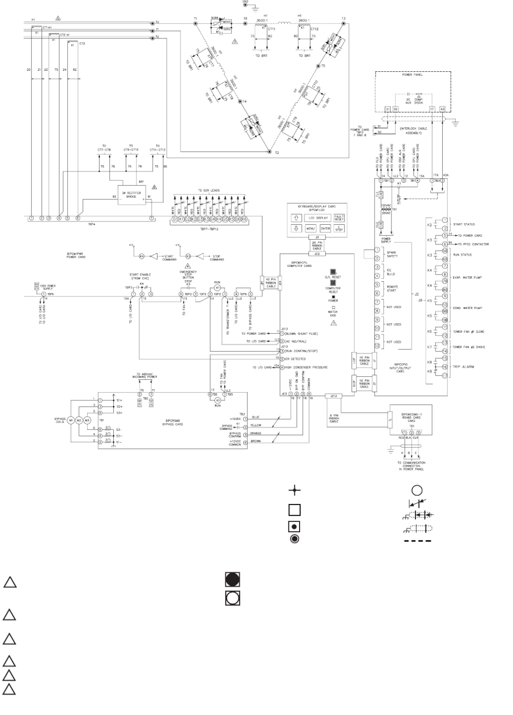 medium resolution of carrier 19xr xrv fig 53 benshaw inc solid state unit mounted starter wiring schematic low voltage cont