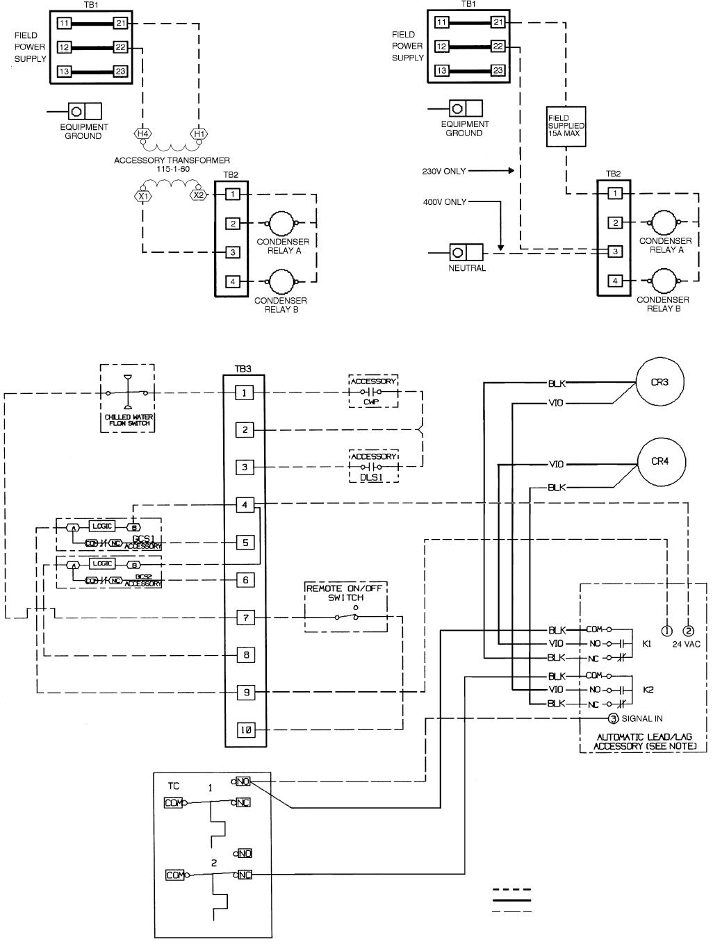 hight resolution of carrier 060 30hk040 060 30hl050 30hw018 040 fig 17 field wiring diagram 30hk hl units