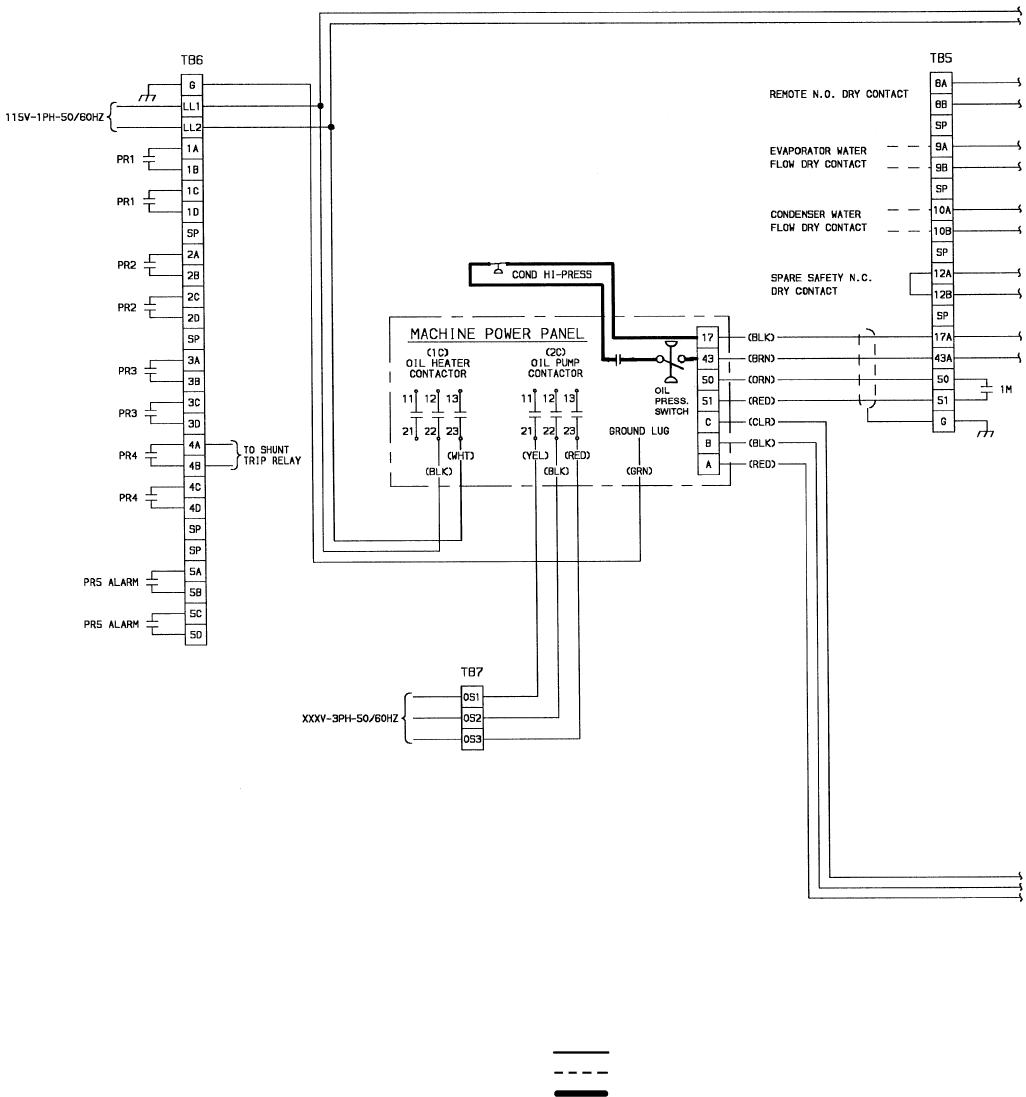 hight resolution of 50 chiller power panel starter assembly and motor wiring schematic