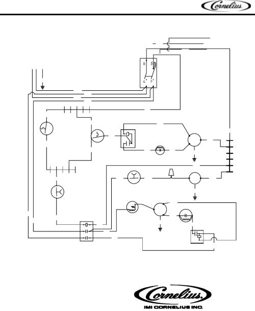 small resolution of cornelius series 200 series 525 series 725 artwork 50925 rev a 220 volts 50 hz af wf 525psc 50 r part no 161909063