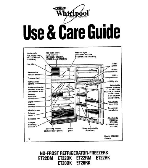 small resolution of whirlpool refrigerator schematic wiring diagram technic whirlpool refrigerator wiring harness whirlpool et22dk et20dk et20rk