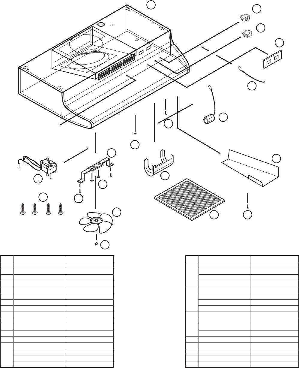 Air King RF55 REPLACEMENT PARTS DIAGRAM