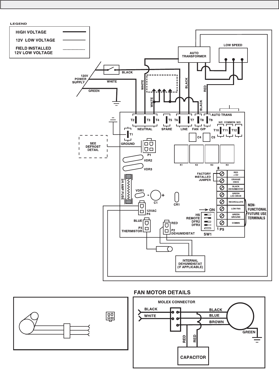 Lifebreath RNC10, RNC120D, RNC155, RNC20, RNC200, RNC5-TPD
