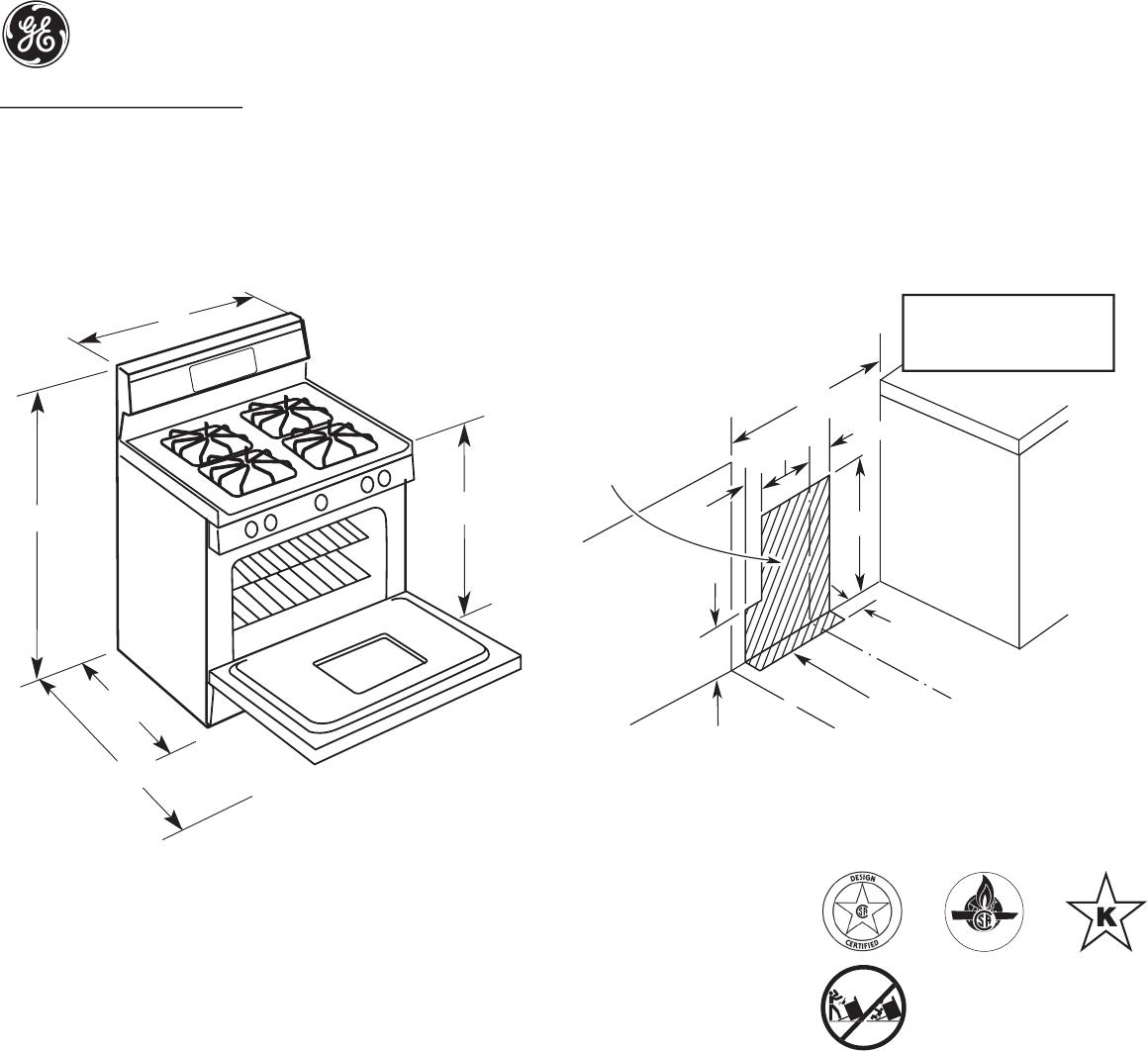 GE JGBP28BEJ, JGBP28EEJ, JGBP28WEJ dimensions