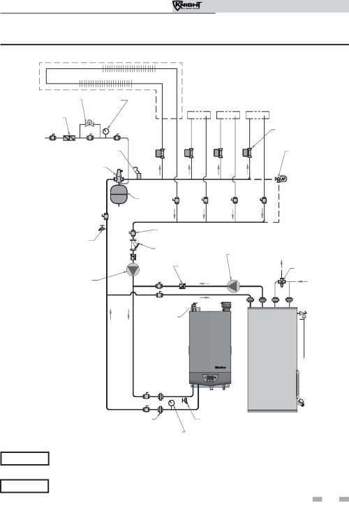 small resolution of lochinvar wh 55 399 figure 6 10 single boiler full flow single temperature zoned with zone valves dhw priority notice