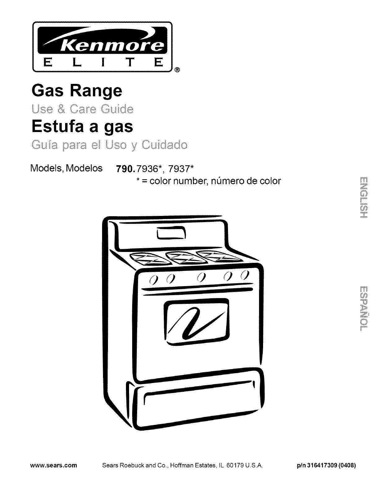 Kenmore 790.7936, 790.7937 manual