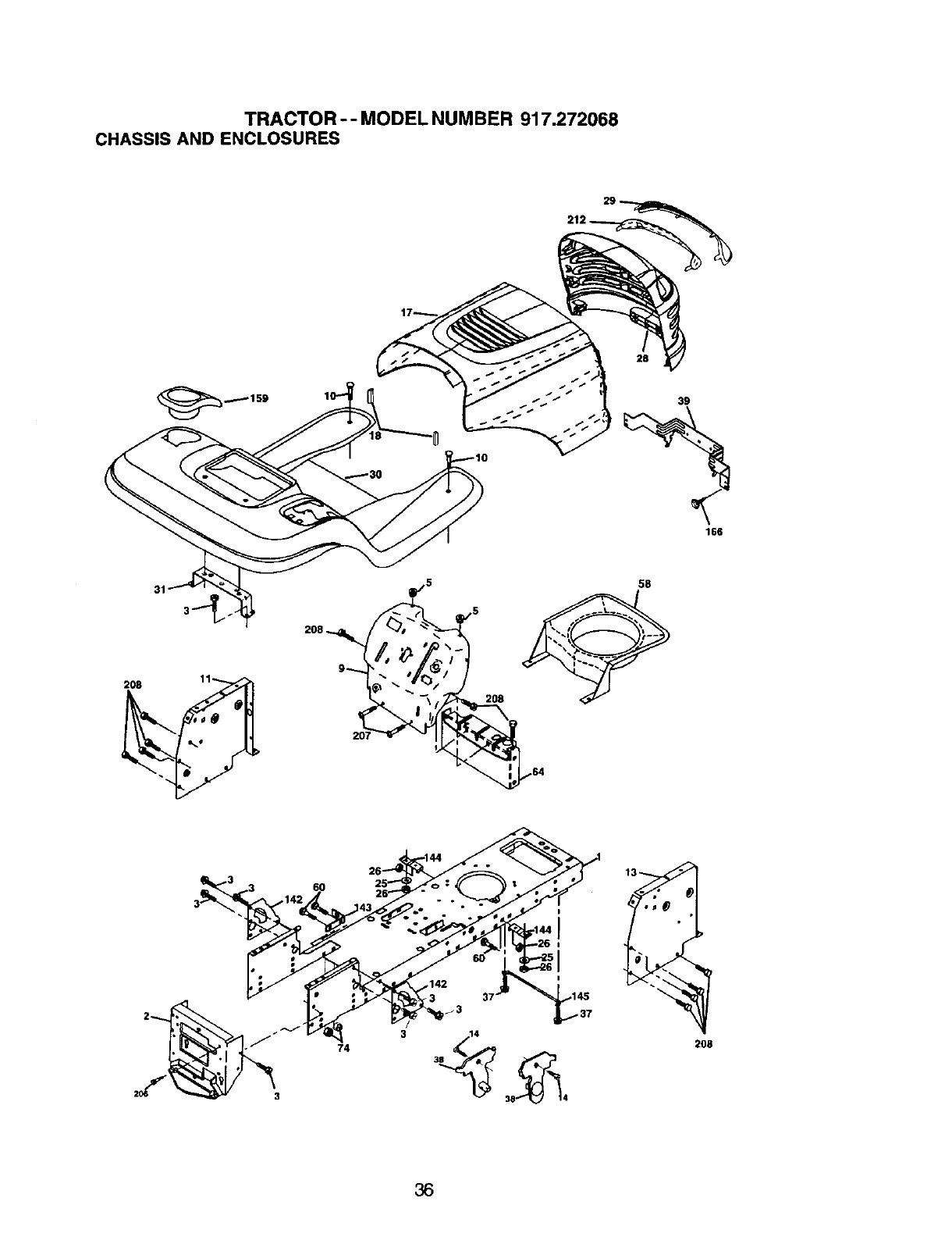 Craftsman 917.272068 TRACTOR