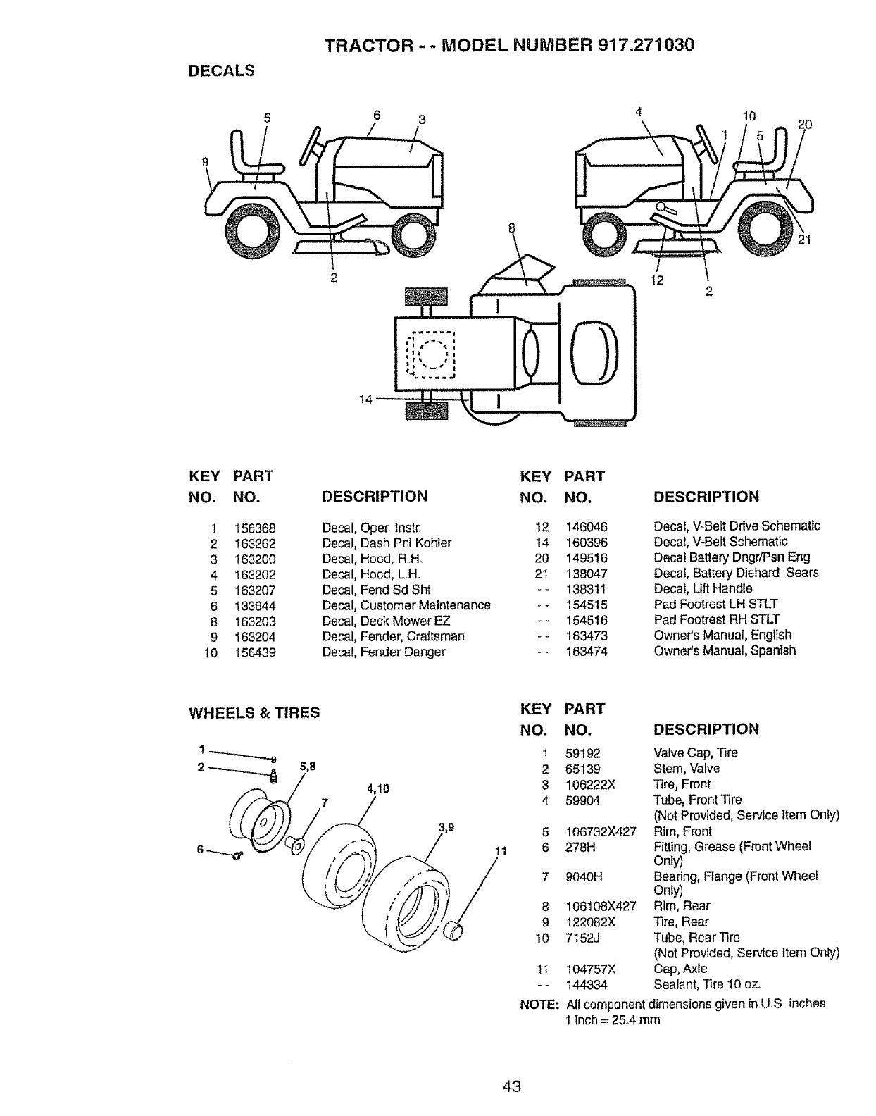 Craftsman 917.27103 TRACTOR-- MODEL NUMBER 917.271030