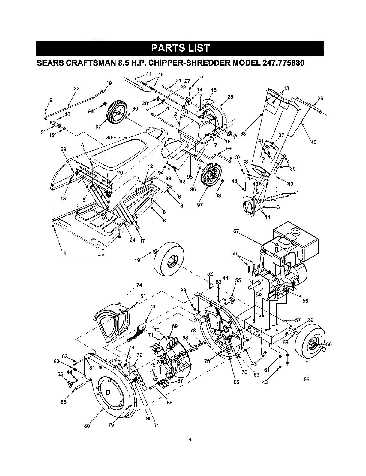 Craftsman 247.77588O, 77588 SEARS CRAFTSMAN 8.5 H.P