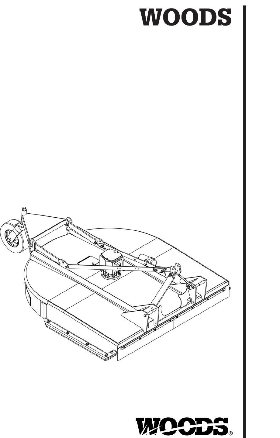 Woods Equipment BB600X, BB720X, BB840X, BB840XP manual