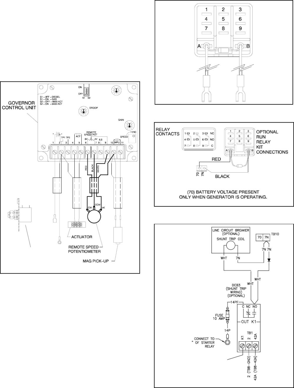 medium resolution of kohler 20 3250 kw 6 1 12 remote speed adjustment potentiometer kit non ecm models 6 1 13 run relay kit 6 1 14 shunt trip line circuit breaker