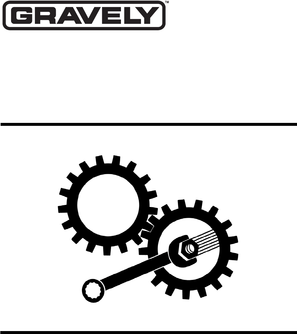 Gravely 985103, 985104, 985107, 985108, 985109, 985110