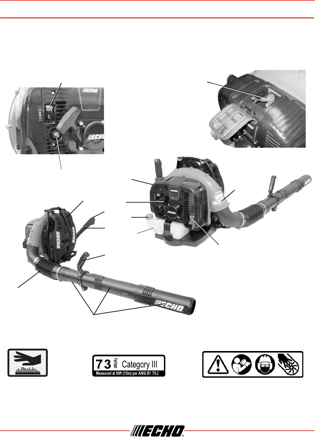 Echo PB-770 H/T DESCRIPTION