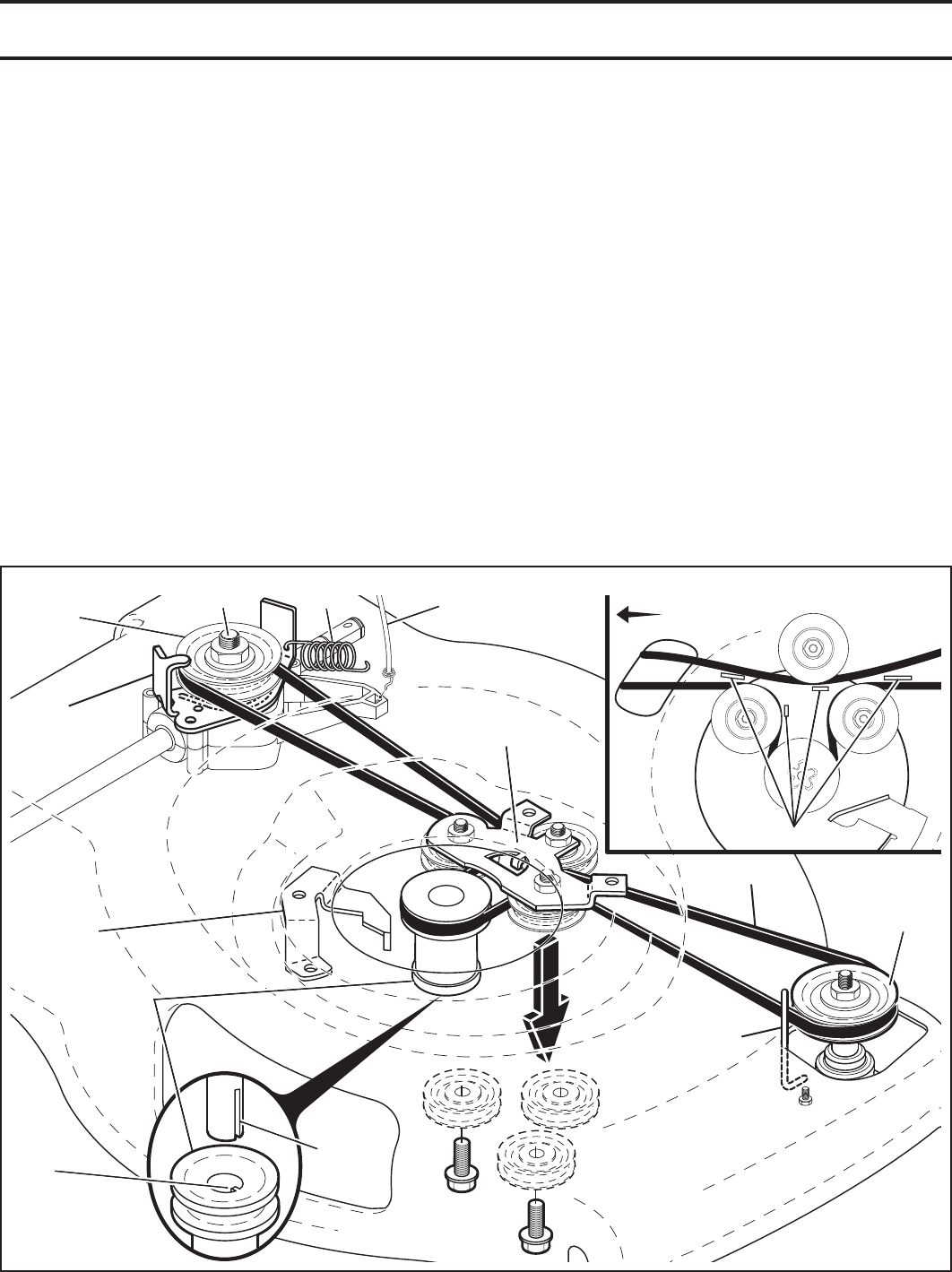 Husqvarna HU800AWD TO REPLACE DRIVE BELT (See Figs. 19 & 20)