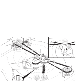 husqvarna mower belt diagram [ 1062 x 1419 Pixel ]