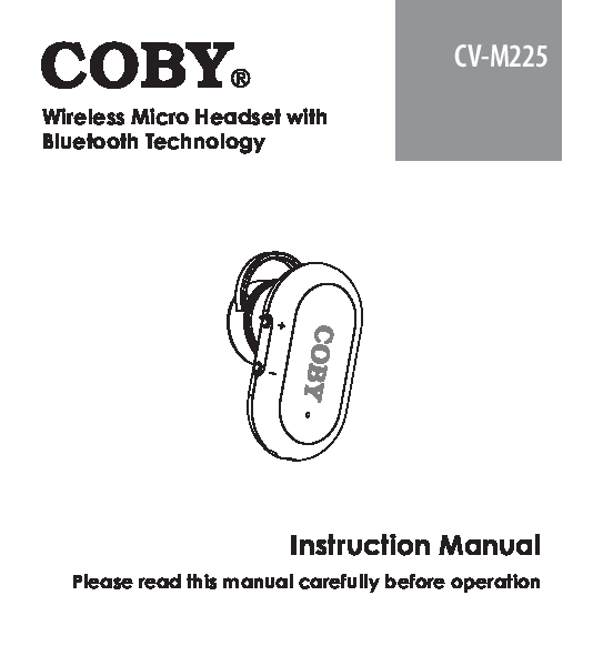 COBY electronic Home Audio manuals