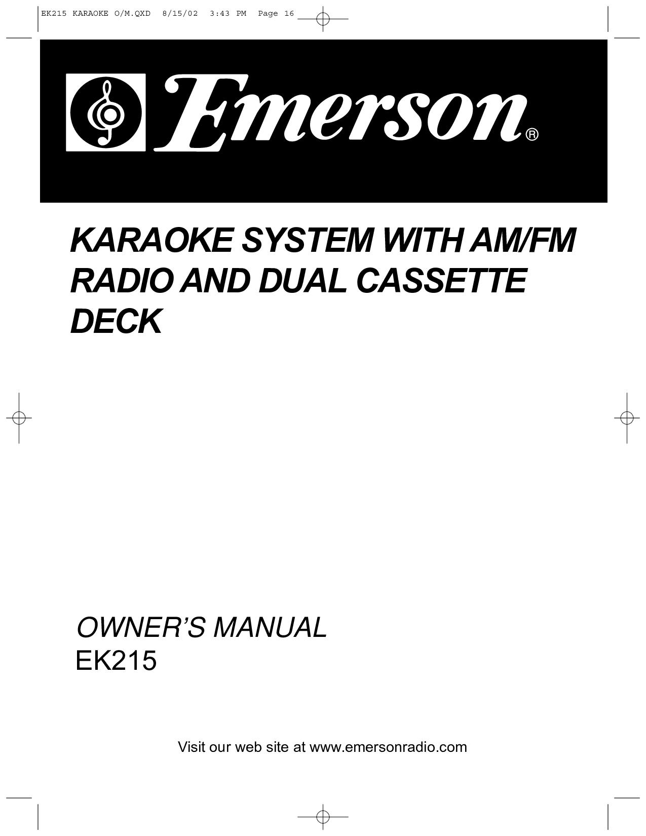 Emerson Home Audio manuals