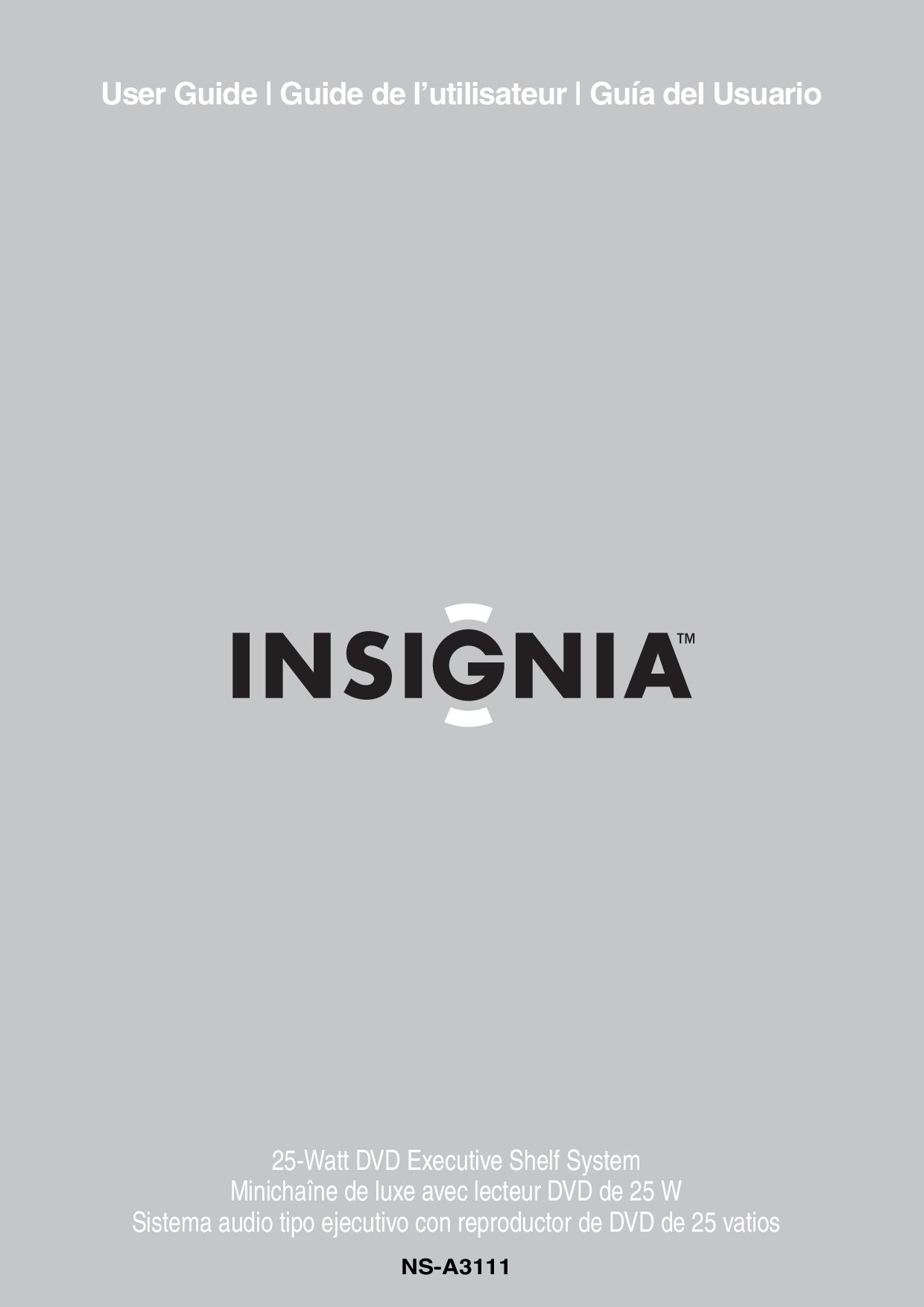 Insignia Home Audio manuals