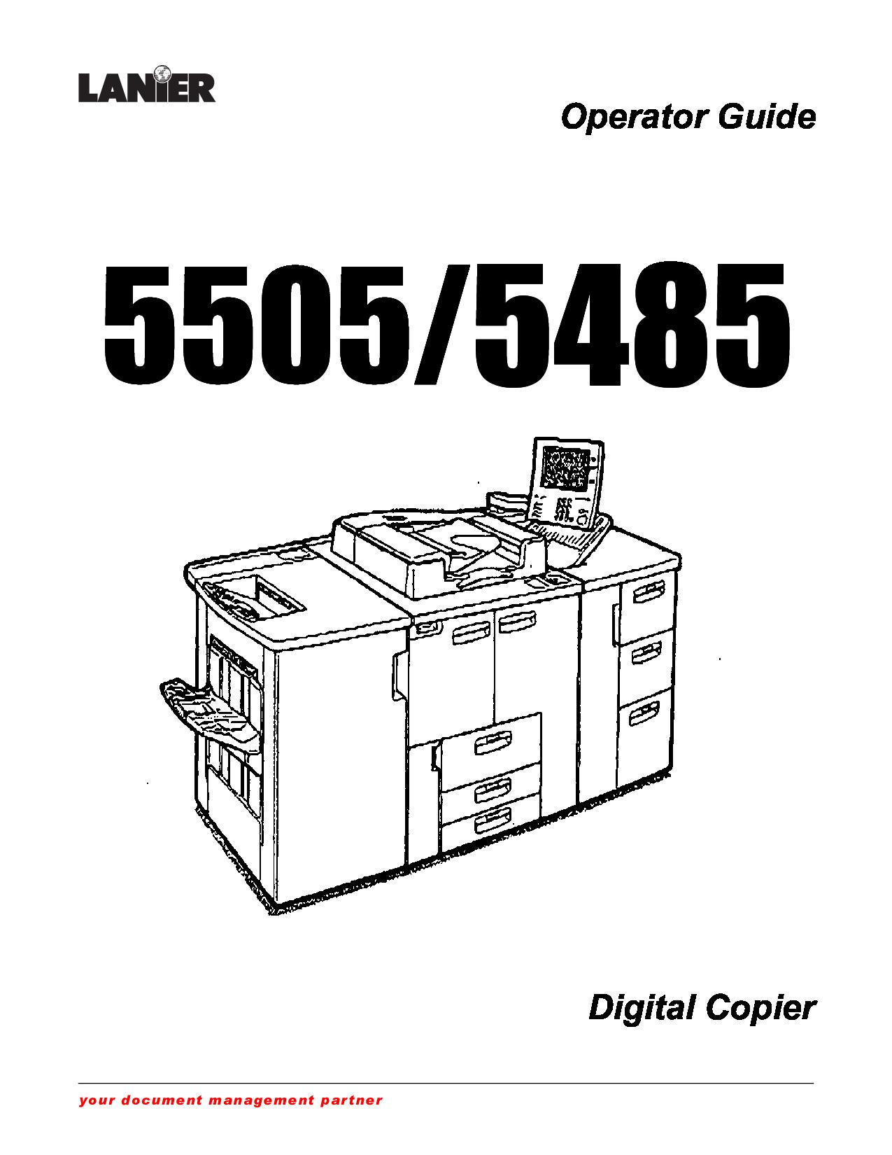 Lanier manuals