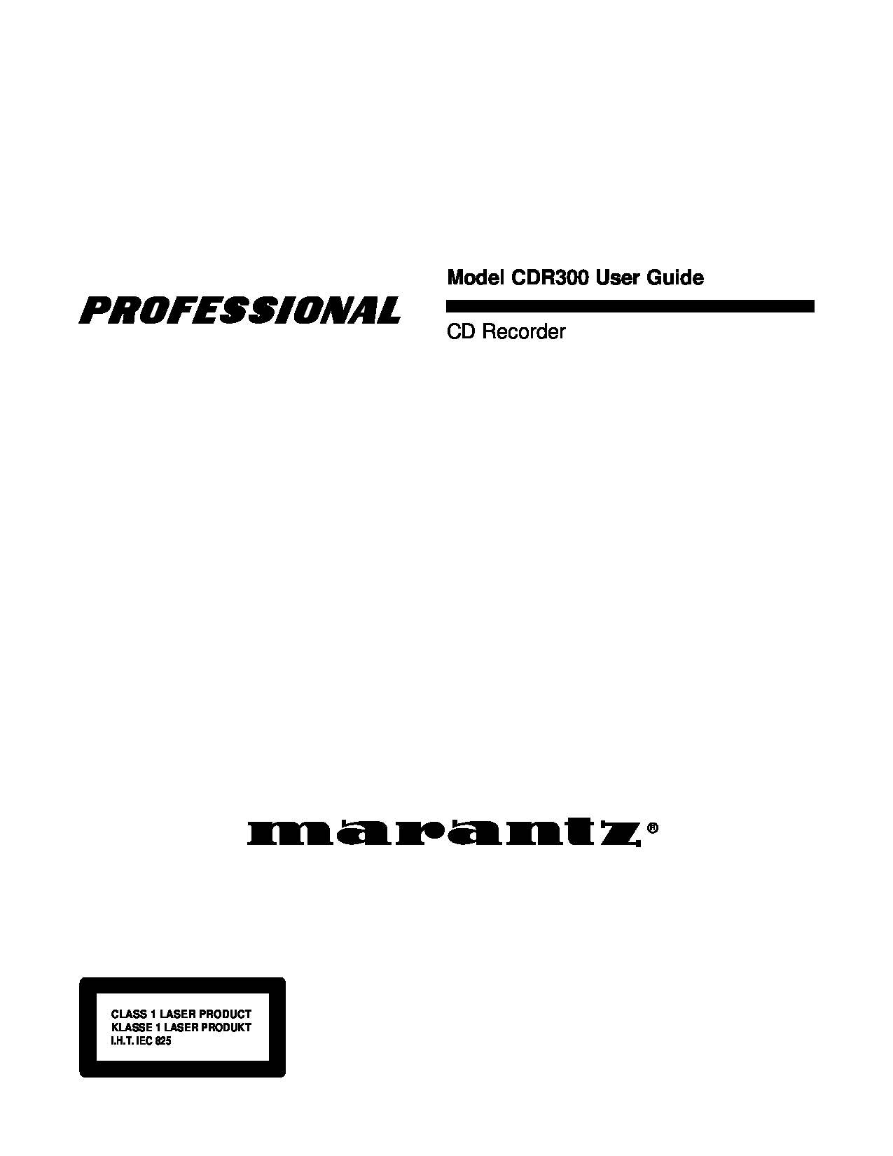 Marantz Home Audio manuals