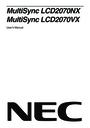NEC LCD2070NX manuals