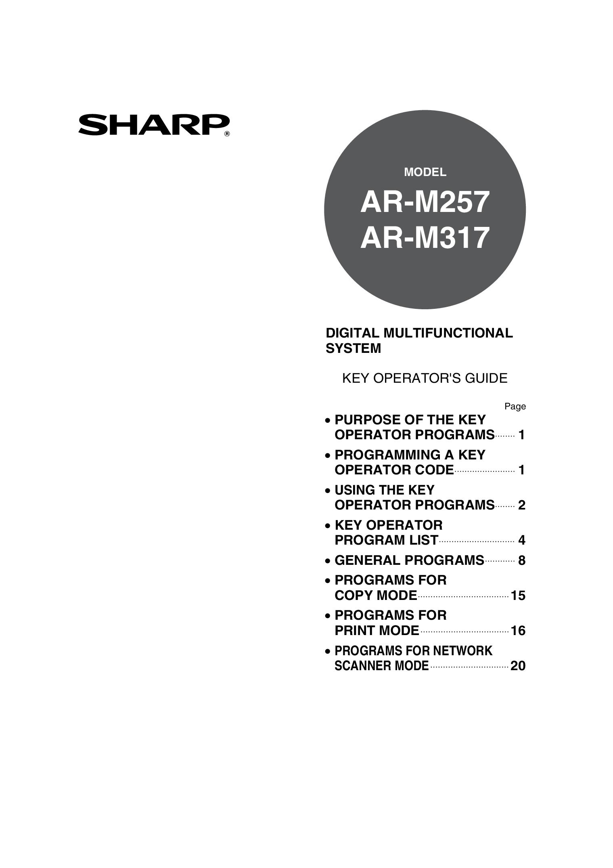 Sharp Scanner manuals