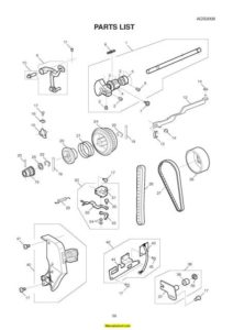 Janome AQS-2009 Sewing Machine Service-Parts Manual