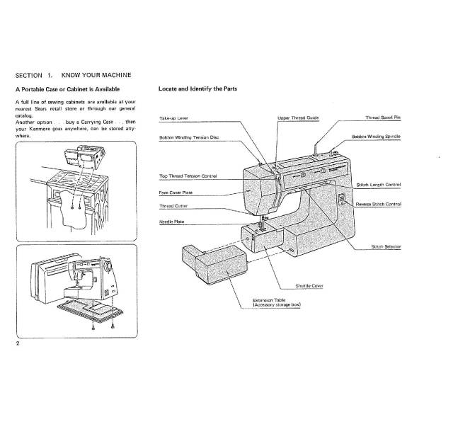 Kenmore 385.12612090 Sewing Machine Instruction Manual