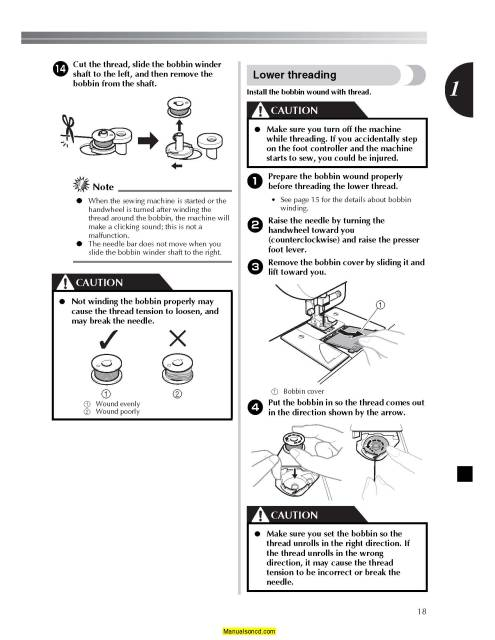 Brother SB530T Simplicity Sewing Machine Instruction Manual