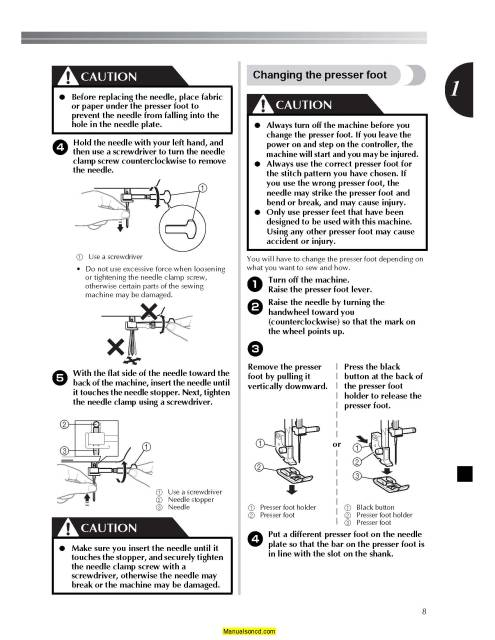 Brother JX2517 Sewing Machine Instruction Manual