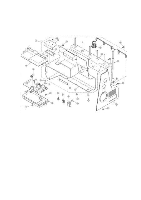 Janome 888 Memory Craft Sewing Machine Service-Parts Manual