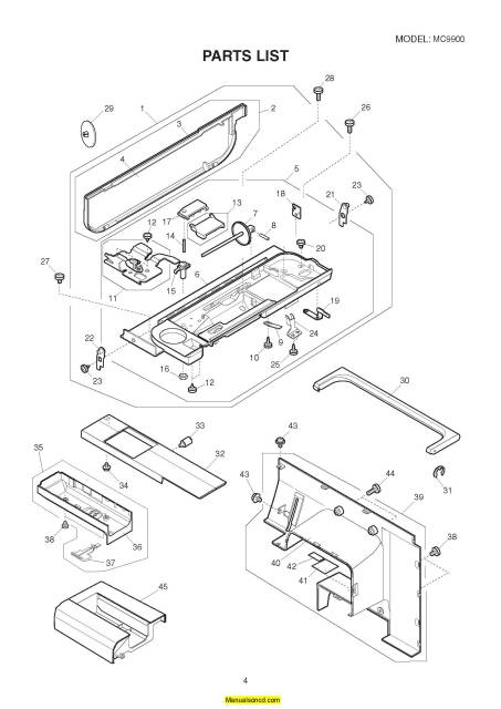 Janome 9900 Memory Craft Sewing Machine Service-Parts Manual