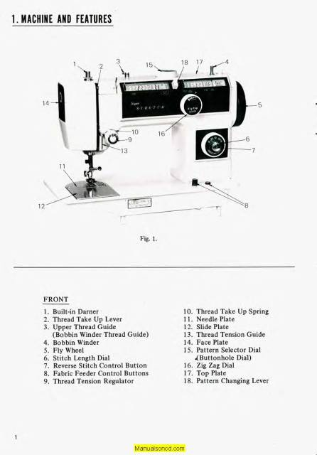 Dressmaker 5500 Super Deluxe Sewing Machine Instruction Manual