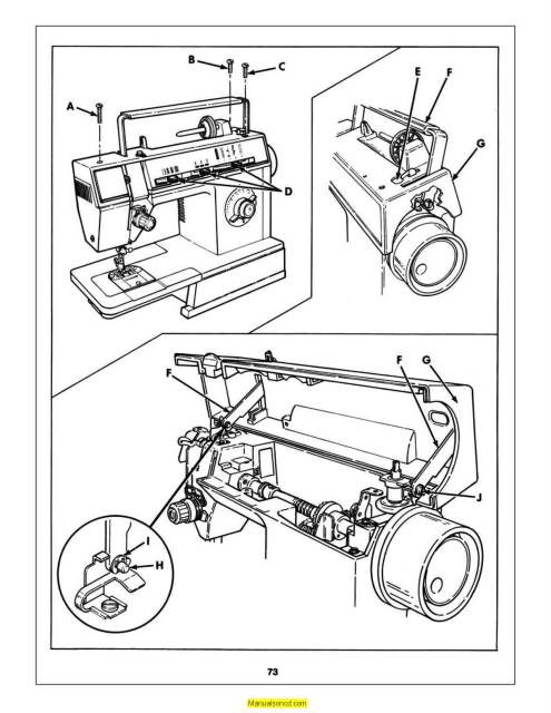 Singer 6211 Sewing Machine Service-Parts Manual