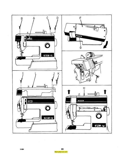 Singer 6233 Sewing Machine Service-Parts Manual
