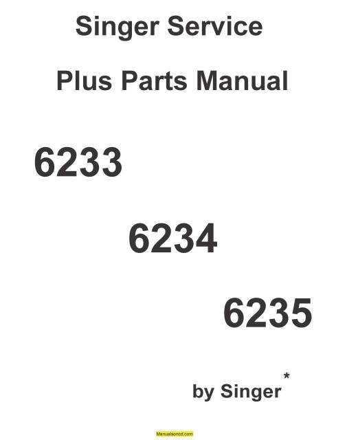 Singer 6234 Sewing Machine Service-Parts Manual