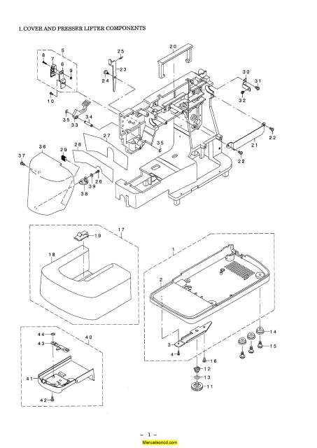 Juki HZL-E61 Sewing Machine Service-Parts Manual