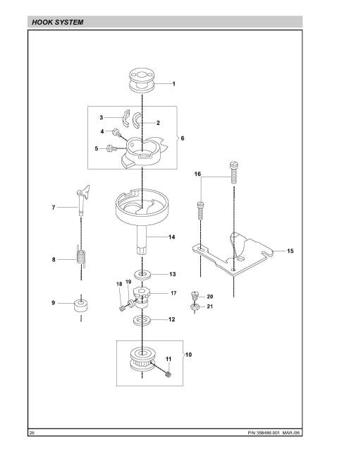 Singer 2802-2868 Sewing Machine Service-Parts Manual