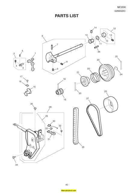 Janome MO200-5200QDC Sewing Machine Service-Parts Manual