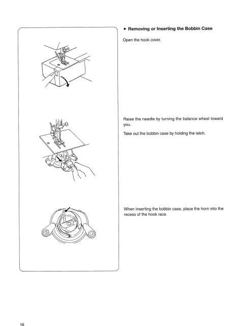 Janome 1008 Sewing Machine Instruction Manual