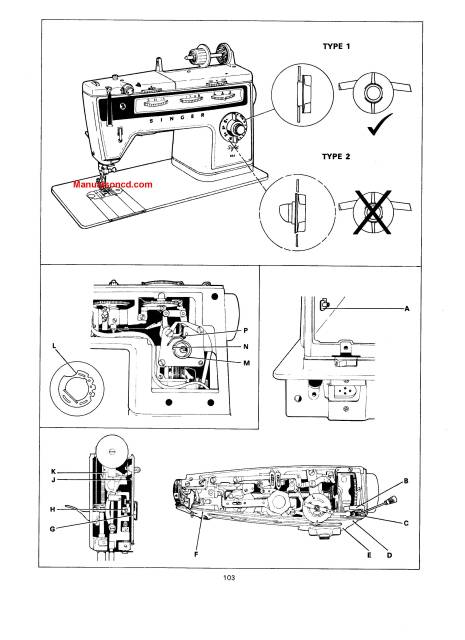 Singer 833 Sewing Machine Service Manual