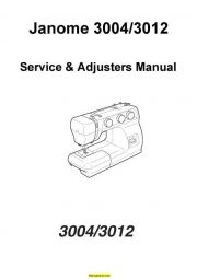 Janome Service Manuals