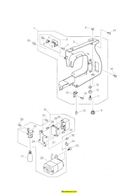 Janome 660 Jem Gold Sewing Machine Service-Parts Manual