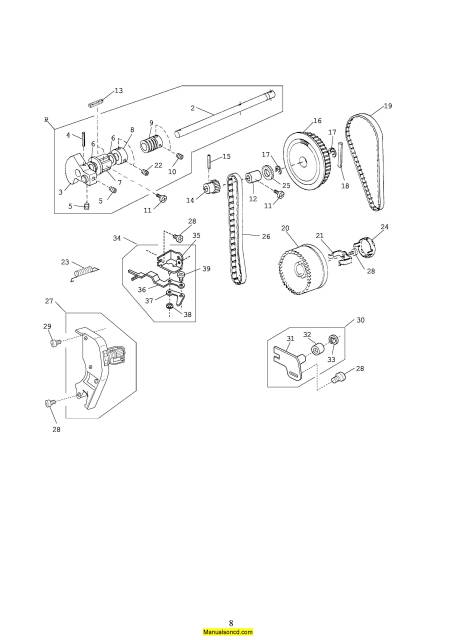 Janome 661 Jem Gold 2 Sewing Machine Service-Parts Manual