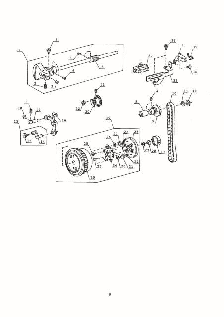 Janome New Home MX3123 Sewing Machine Service-Parts Manual