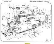 Necchi SuperNova Automatica Ultra-Bu-Mark 2 Parts Manual